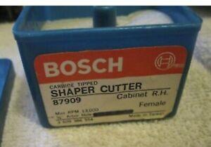 "Bosch shaper Cutter 87909, RH Cabinet,Carbide Tipped, 3/4' Arbor w/ 1/2"" Bushing"