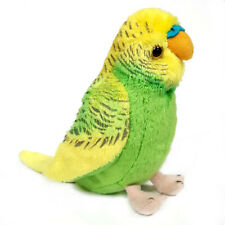 13cm Budgerigar Cuddly Soft Toy - Budgie Plush Toy Available in Blue or Green