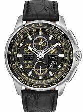 Citizen JY8057-01E Men's Limited Edition Leather Skyhawk World Time A-T Watch