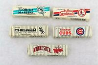 MLB 90s Baseball Chewing Gum 5 Sticks NIP Pick TEAM Cubs,Cardinals,Twins,Sox,Fla