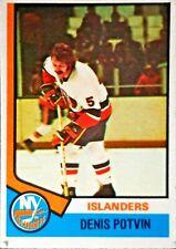 1974-75 O-Pee-Chee #195 Denis Potvin Islanders ROOKIE CARD**FREE COMBINED SHIP**