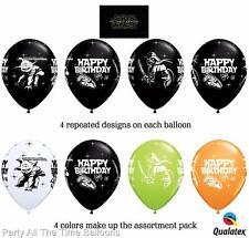 "25 PC 11"" Happy Birthday Star Wars latex balloons FREE SHIPPING"