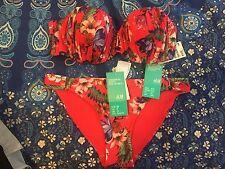 e19a12e2ea50 Bnwt H M Red Floral Bikini Sizes On Tags
