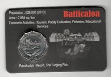 Sri Lanka 2014 UNC District Series 10 R Official Coin Folder Batticaloa Fish