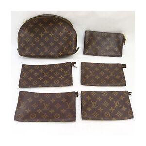 Louis Vuitton Monogram Pouch Accessories Pouch 6 pieces set 525065
