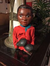 "Vintage ""MUHAMMAD ALI"" Hand Puppet Red Robe - Hand Operated Boxing Action & Mag."