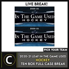 2020-21 LEAF IN THE GAME б/у хоккейные 10 коробка футляр разрыва #H1228 — выбирайте свою команду