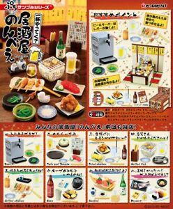 Re-Ment Miniature Japanese Pub Bar Beer Sashimi Full Set 8 pieces Rement