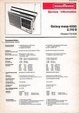 Service Manual-Anleitung für Nordmende Galaxy Mesa 4000 2.110 B