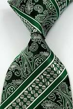 New Classic Striped Paisley Green JACQUARD WOVEN Silk Men's Tie Necktie #219
