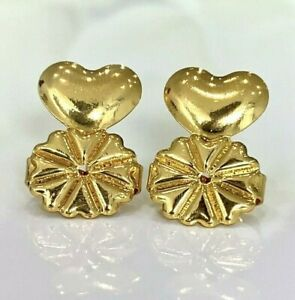 1 Pair Earring Lifters Gold Womens Earring Backs for Droopy Ears Hypoallergenic