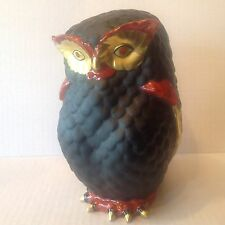 Italian Porcelain Owl MANIFATTURA PORCELLANE ARTISTICHE Handpainted Signed