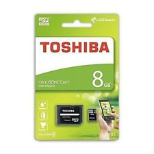 Toshiba microSD 8GB microSDHC class 4 Karte SD inkl. Adapter M102 NEU