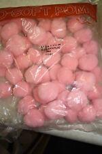"1 1/2"" Pink Pompoms  50 pcs"