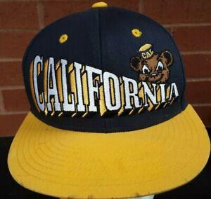 California Golden Bears LOGO NCAA Vintage 90's Mesh Snapback Hat Cap