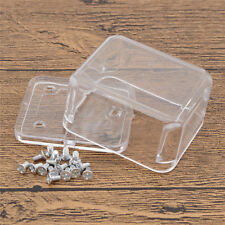 Clear Rectangle Box Case Container for Hand Crank Movement Musical Box  6 x 5 cm
