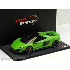 McLaren 675LT Spider Mantis Green TOPSPEED MODEL 1/18 #TS0069