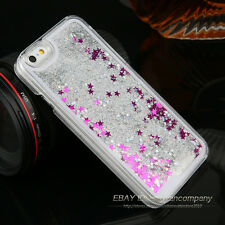 Luxury Glitter Star Liquid Back Phone Case Cover for Samsung iPhone 4 5 6 7 Plus