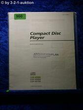 Sony Bedienungsanleitung CDP XE900 / XE800 / XE700 CD Player (#0900)