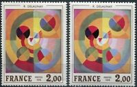 """FRANCE STAMP TIMBRE N°1869 """"DELAUNAY SUPERBE VARIETE TRIANGLE BLANC"""" NEUF xx TTB"""