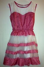 Red and White Checks Round Collar Casual Summer Sleeveless Dress
