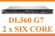HP PROLIANT DL360 G7 2x SIX CORE 2.93GHz x5670 32GB DDR3 4 x Rahmen + Rails