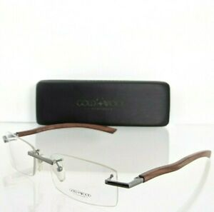 Brand New Authentic Gold & Wood Eyeglasses R0 01 20 SZ07 Brown Silver Frame