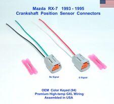 Mazda RX-7 Crankshaft Crank Position Sensor Connector Plug Pigtail SET 93-95