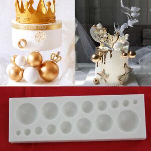 3D Bead / Pearls Jewel Mould Sugarcraft Cupcake Baking Decorating Chocolate Ball