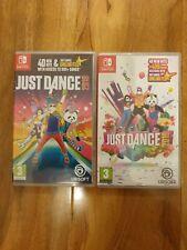 Just Dance 2018 y Just Dance 2019 Nintendo Switch Juegos probado trabajando muy bien