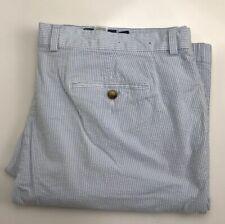 Vineyard Vines Seersucker Slim Fit Breaker Pant Blue White Preppy Mens 42x32