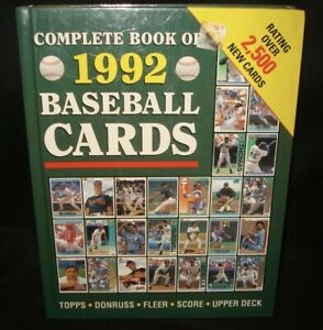 Publications International Complete Book of 1992 Baseball Cards Price Guide Book