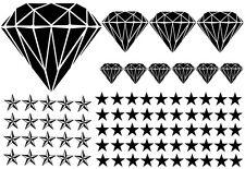 93-teiliges Diamant Sterne Star Auto Aufkleber Set Sticker WANDTATTOO Blumen xx