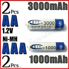 2 Piles rechargeables AAA 1000 mAh + 2 Piles rechargeables AA 3000 mAh - BTY