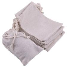 10pcs Linen Burlap Drawstring Sack Jute Pouch Gift Bags Wedding Favor 15 x 10cm
