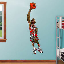 Michael Jordan Huge 4 foot CaricatureRoom Wall Garage Decor Sticker Decal