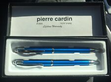 NEW Pierre Cardin Blue Pen and Pencil Set Gift Box NIB