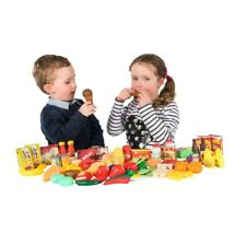 120 Piece Kids Food Set Play House Accessories Toy Pretend Kitchen Present