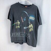 Vintage Star Wars Episode 1 T-Shirt Tee Jedi vs Sith Black Darth Maul 90s Large