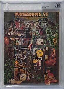"""Roger Staubach Signed Original Football Super Bowl VI Program """"SB VI MVP"""" BAS"""
