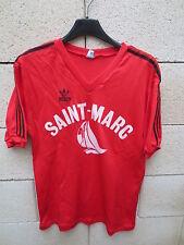VINTAGE Maillot ADIDAS rouge SAINT-MARC nylon trikot shirt oldschool 80's 4x5