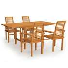 5piece Outdoor Patio Furniture Sets Solid Teak Wood Chairs Garden Dining Table 1