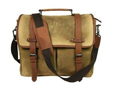 Canvas Messenger Bag 15 In Laptop Satchel Crossbody Shoulder Waterproof Vintage