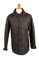 "Vintage Barbour Quilted Jacket Mens Smart Outerwear Chest 47"" Brown - C1947"
