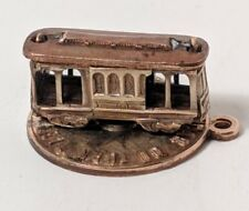 VINTAGE 14k Gold Filled Charm San Francisco Cable Car rotates!