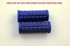 PAIR BLUE CHILDS BIKE/TRIKE/SCOOTER HANDLEBAR GRIPS 80mm KIDDIES CHILDREN CYCLE