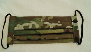 1 New Adult Handmade Camo OCP Multicam Face Mask Filter Pocket NoseWire Washable