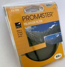 Promaster 62mm Lens Filter Polarizer PL *NEW*