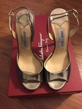 Jimmy Cho Peep Toe Slingback Pumps Size 36.5