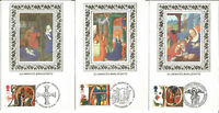 5 Illuminated Manuscripts Benham Silk First Day Cover Postcards Nov 1991 U1585